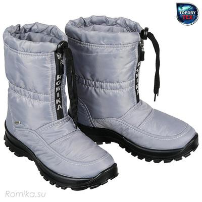Зимние сапоги Alaska 118 Romika, цвет Серый