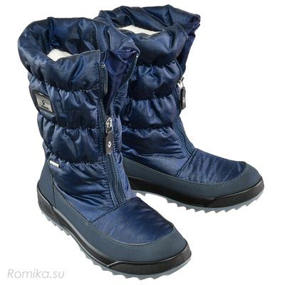 Зимние сапоги Vista 31322, цвет D-Blau Glitter (фото)