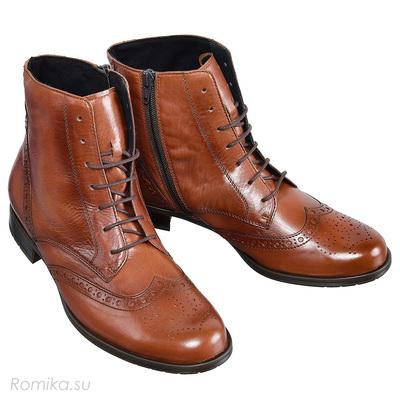 Ботинки осенние P60183, цвет Cognac